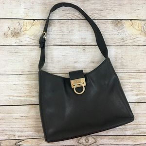 Salvatore Ferragamo Saffiano Leather Hobo Bag